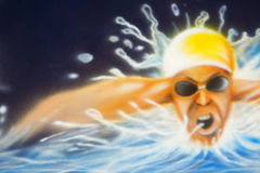 Swimmer illustration  Royalty Free Stock Images