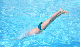 Swimmer Jumping Royalty Free Stock Image