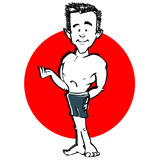 Swimmer man cartoon Royalty Free Stock Image