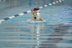 Swimmer is participating in the competition Royalty Free Stock Photo