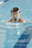 Swimmer is participating in the competition Stock Images
