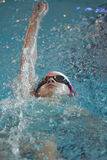 Swimmer is participating in the competition Stock Photography