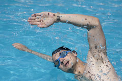 Swimmer performing crawl stroke Stock Image