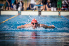 A swimmer. A player of swimming in a round of the national trophy Italian memorial Mirko Lagana Royalty Free Stock Photo