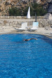 Swimmer in the pool Stock Images