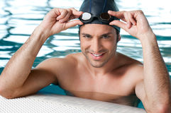 Swimmer at pool Royalty Free Stock Photos