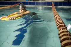 Swimmer in Pool Stock Images