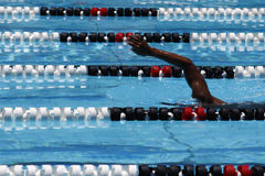 Swimmer in pool lane Royalty Free Stock Image