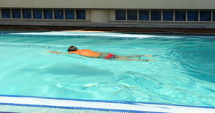 Swimmer in the pool, summer holidays, Andalusia, Spain Royalty Free Stock Photography