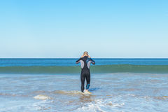 Swimmer ready to go swimming. Royalty Free Stock Photo