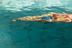 Swimmer after start Stock Photos