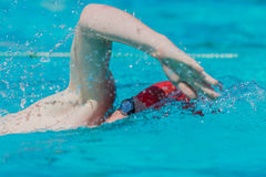 Swimmer Stroke Arm Goggle Lens Stock Images