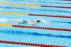 Swimmer swimming in a pool Royalty Free Stock Images