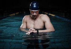 Swimmer in swimming pool Royalty Free Stock Photography