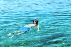Swimmer swimming underwater Stock Photography