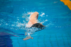 Swimmer swims Royalty Free Stock Photo