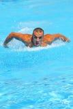 Swimmer training Stock Photos
