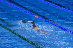 Swimmer training Stock Photo