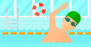 Swimmer training in pool. Stock Image