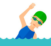 Swimmer training in pool Royalty Free Stock Photos