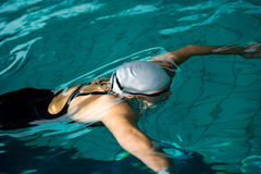 Swimmer under water Stock Photo