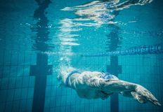 Swimmer under water Stock Photography