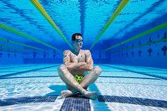 Swimmer Underwater Royalty Free Stock Images