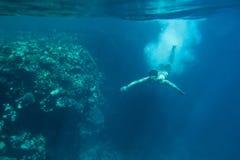Swimmer underwater Stock Photography