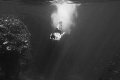 Swimmer underwater Royalty Free Stock Image