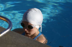 Swimmer Waiting to Swim royalty free stock images