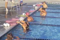 Swimmers practice Royalty Free Stock Images