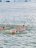 Swimmers in the Sea Stock Photography