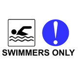 Swimmers only Stock Photography