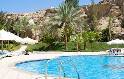 Swimmimg-pool. Swimming-pool in the hotel rear yard Stock Image