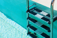 Swimmimg Pool Ladder Closeup Royalty Free Stock Images