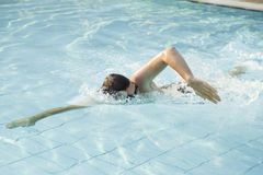 Swimmimg practise Stock Image