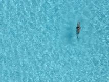 Swimming. An image of a man swimming taken from above in Barcelona 2005 royalty free stock photography