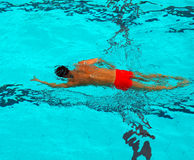 Swimming. A man swimming in a pool royalty free stock photos