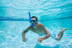 Swimming. Swimmer Under Water in Pool Royalty Free Stock Photography