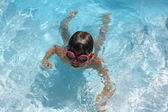 Swimming. Fun under the water Stock Photography