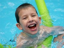 Swimming!. Happy child in swimming pool Stock Photography