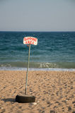 Swimming area signpost Royalty Free Stock Photo
