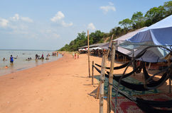 Swimming area in the Western Baray. Siem Reap. Cam Stock Image
