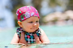 Swimming baby Royalty Free Stock Images
