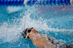 Swimming backstroke Stock Photo