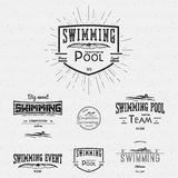 Swimming badges logos and labels for any use Royalty Free Stock Image