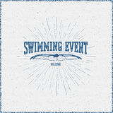 Swimming badges logos and labels for any use Royalty Free Stock Photography