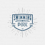 Swimming badges logos and labels for any use Stock Photos