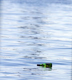 Swimming Bottle Royalty Free Stock Photography