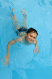 Swimming boy. Royalty Free Stock Image
